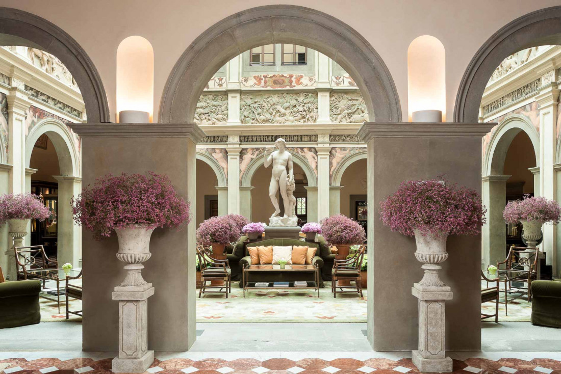 Four Seasons Hotel Firenze | Décor opulent dans le lobby © Four Seasons Hotels and Resorts