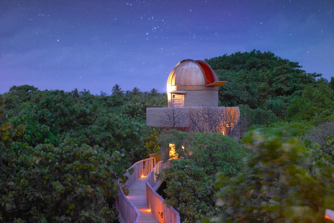 Soneva Fushi dispose de son propre observatoire pour admirer les étoiles © Soneva Fushi