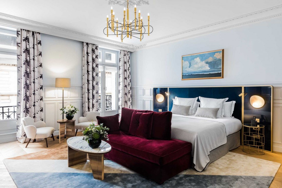 Une Junior Suite Prestige à l'hôtel Grand Powers, dans le Triangle d'Or parisien © Grand Powers