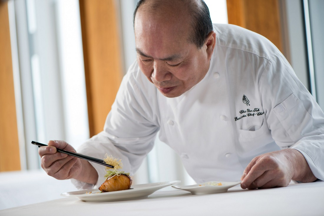 Depuis 2005, le chef Chan Yan-Tak est aux commandes du restaurant Lung King Heen © Four Seasons
