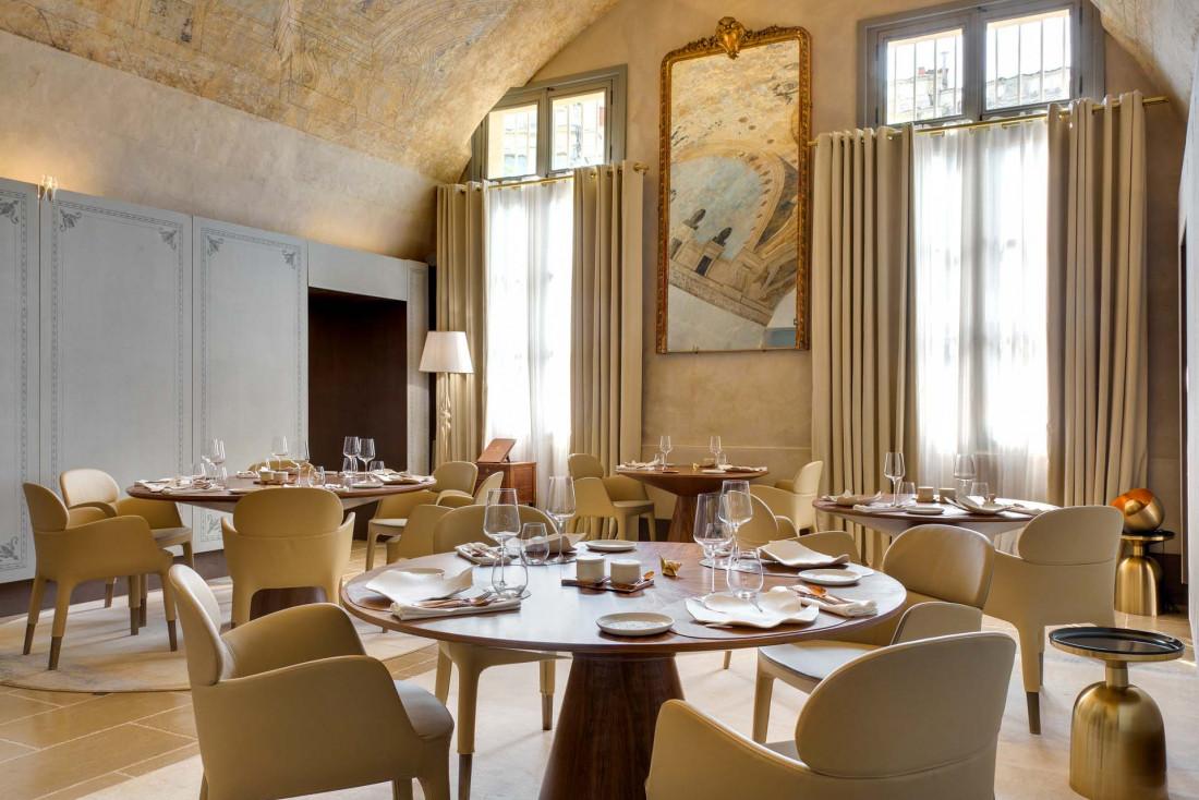 La salle du restaurant Le Jardin des Sens © Agence Sweep Jérôme Mondière