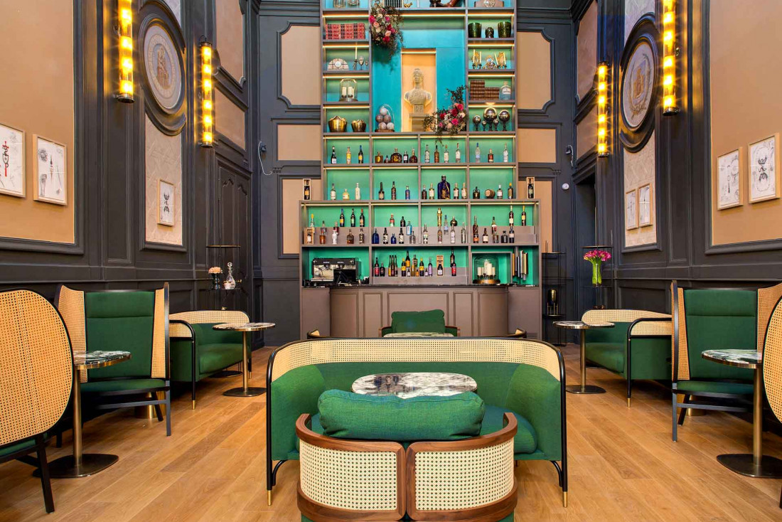 Le bar de l'Hôtel Richer de Belleval © Agence Sweep Jérôme Mondière