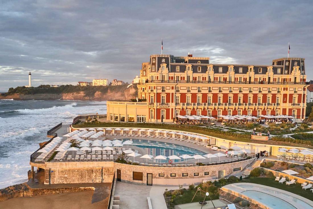 L'Hôtel du Palais à Biarritz, seul palace de la façade Atlantique, a rouvert ses portes au printemps 2021 © Hôtel du Palais