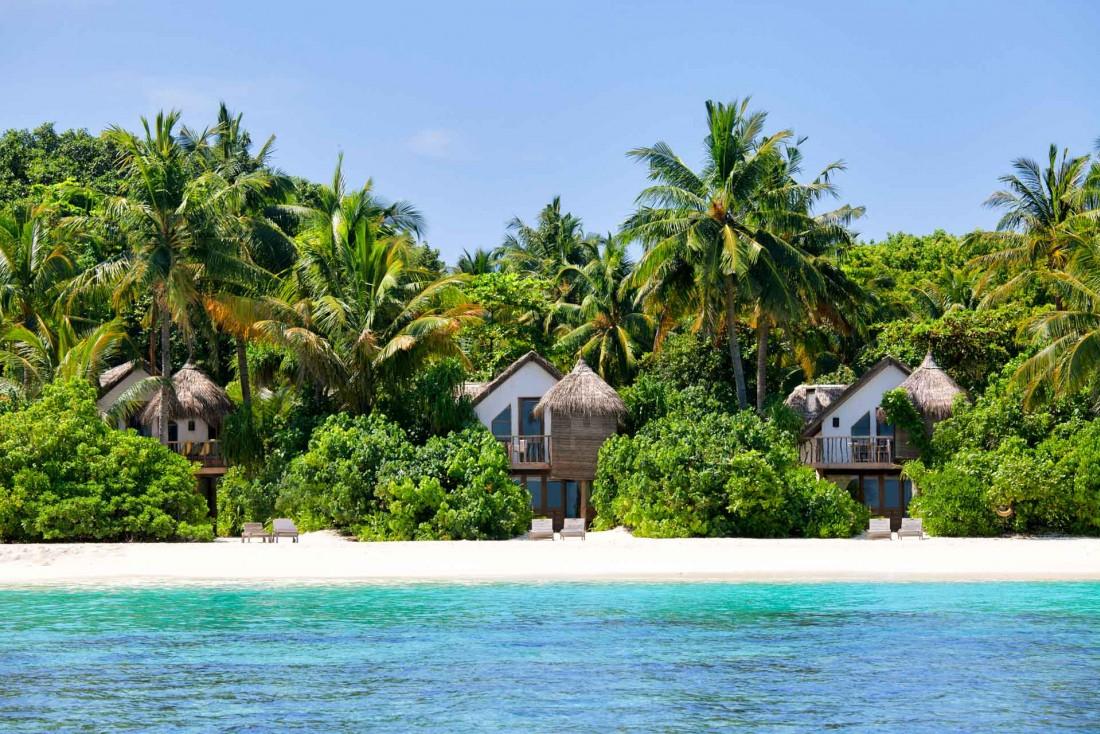 Toutes les villas, quelles que soient leurs tailles, ont un accès direct à la plage © Soneva Fushi