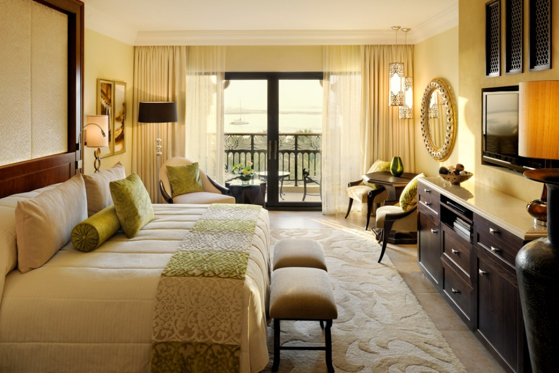 Toutes les chambres sont aussi luxueuses que spacieuses. Ici, une chambre du Palace © One&Only
