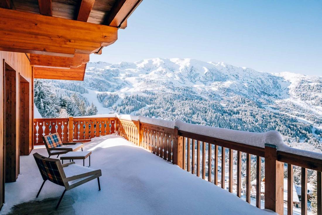 Particularité de l'hôtel, Le Coucou offre de très grands balcons et de vues panoramiques depuis les étages supérieurs © Jérôme Galland
