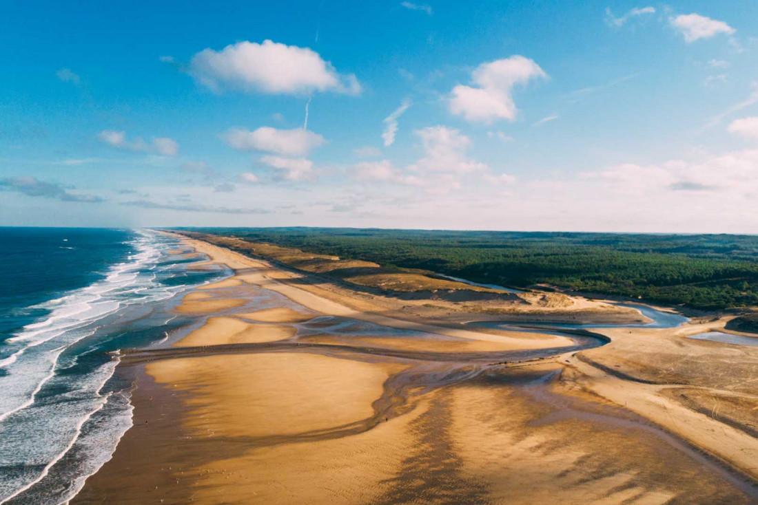 Les Landes déploient leurs 106 kilomètres de côtes, entre forêt et océan © Sébastien Chebassier