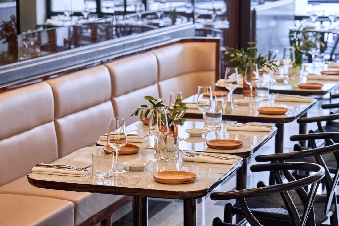 Les intérieurs de la nouvelle Brasserie Lutetia sont signés Jean-Michel Wilmotte © DR