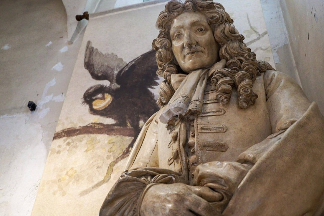 Au musée Jean de La Fontaine, le fabuliste originaire de Château-Thierry fête en 2021 ses 400 ans © DR