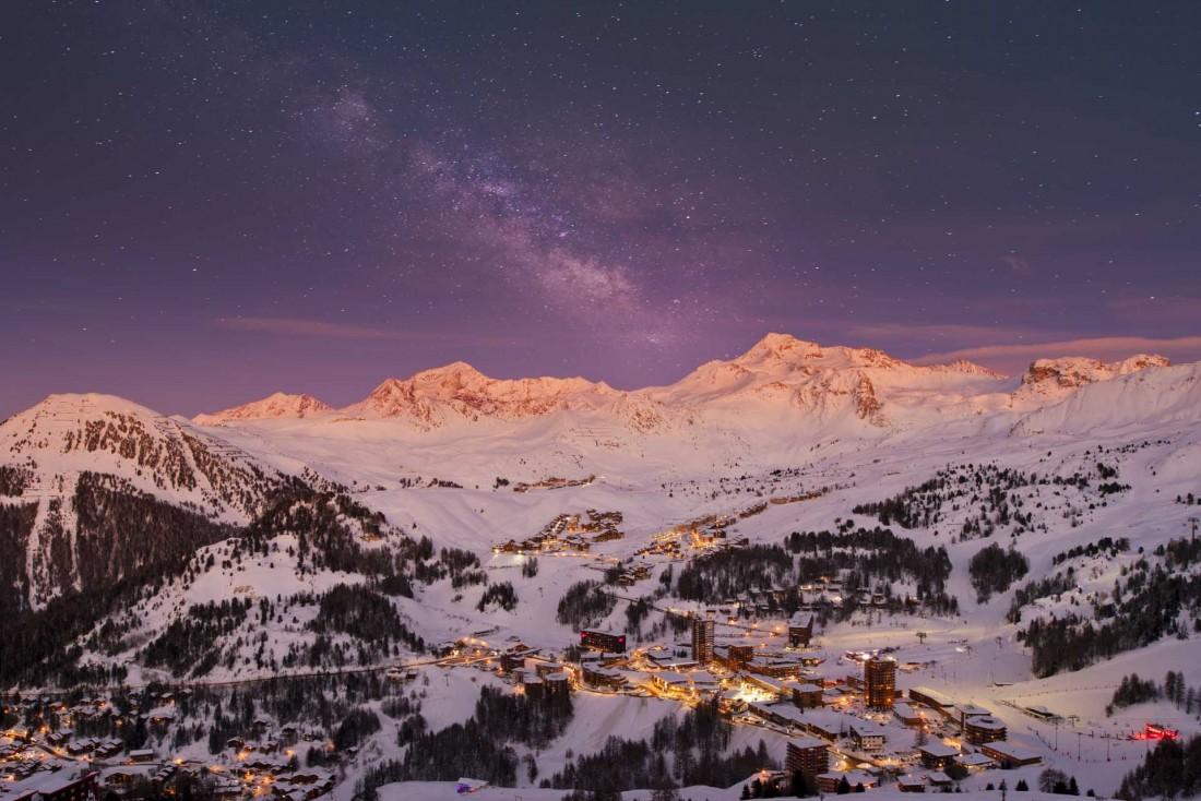 La Plagne Centre et son ciel étoilé © Olivier Allamand