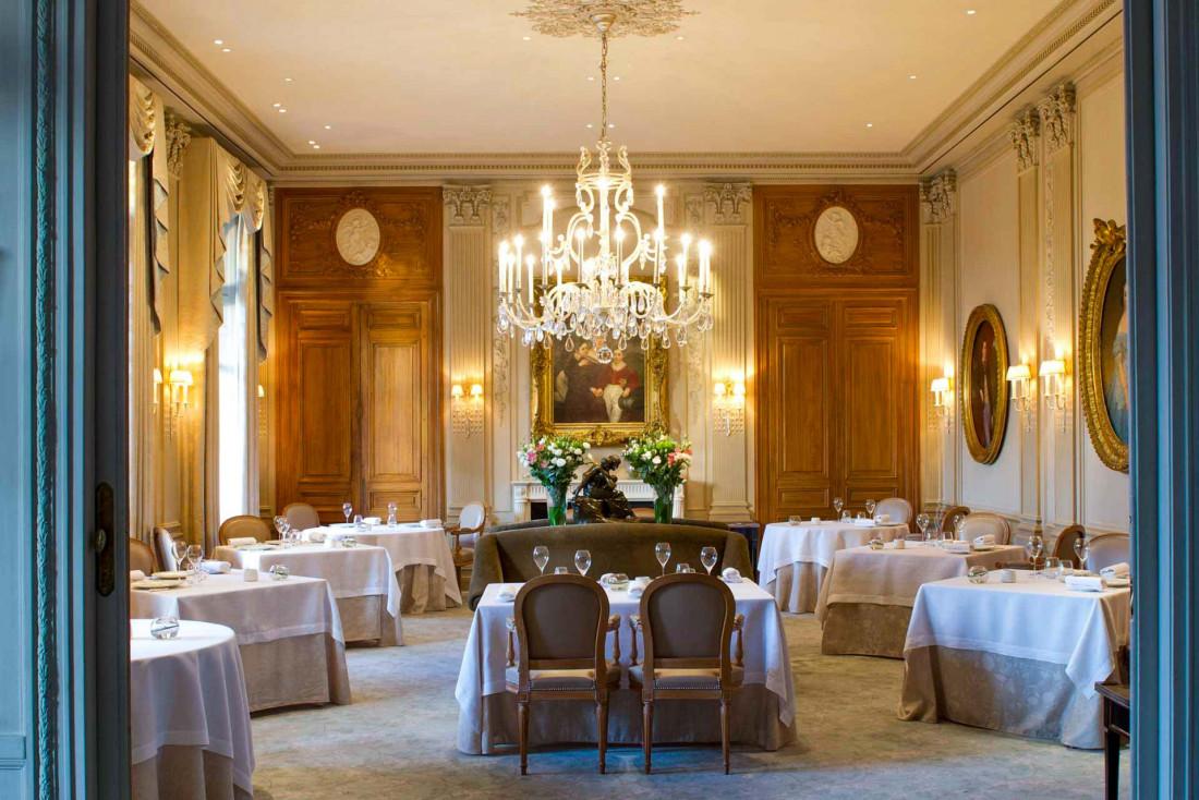 Le fastueux décor néoclassique du Restaurant Le Parc au Domaine Les Crayères © Anne-Emmanuelle Thion