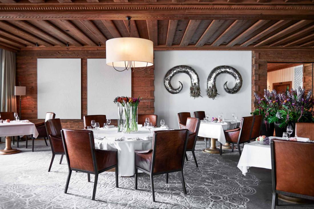 Le restaurant Sommet du chef Marcus Lindner est récompensé d'une étoile Michelin © The Alpina Gstaad