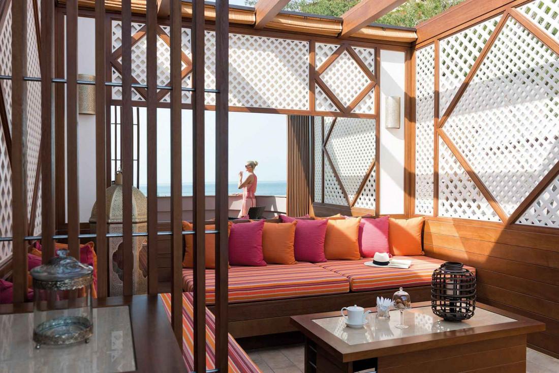 La terrasse de la Suite Miramar donne directement sur l'horizon de la Méditerranée © DR