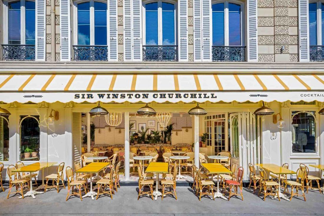 La façade de Sir Winston, près de l'Étoile © Romain Ricard
