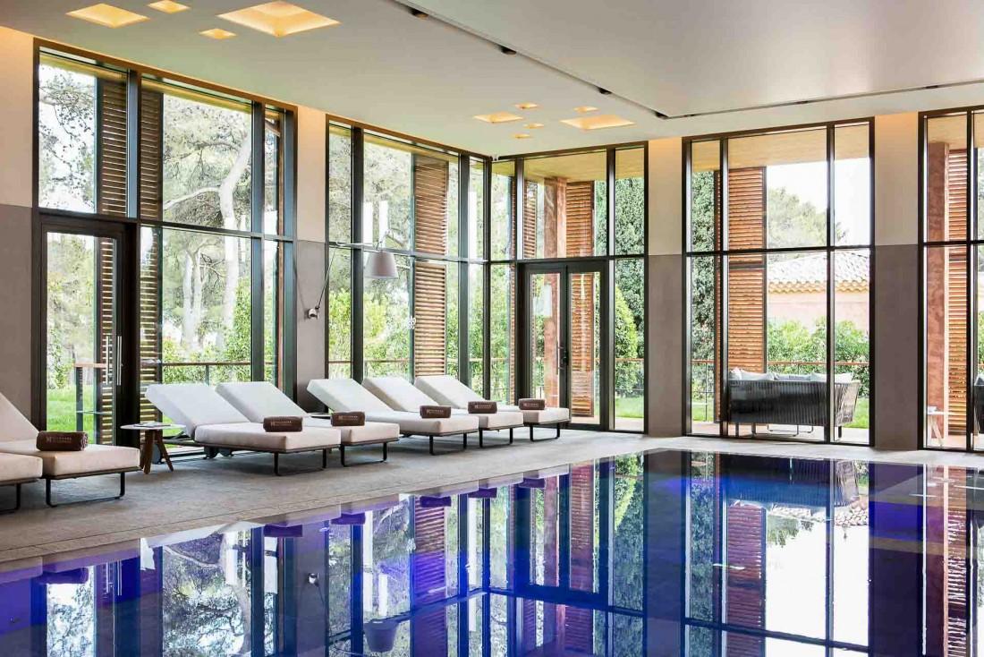 À l'intérieur du luxueux spa de l'Hôtel & Spa du Castellet dans le Var © DR