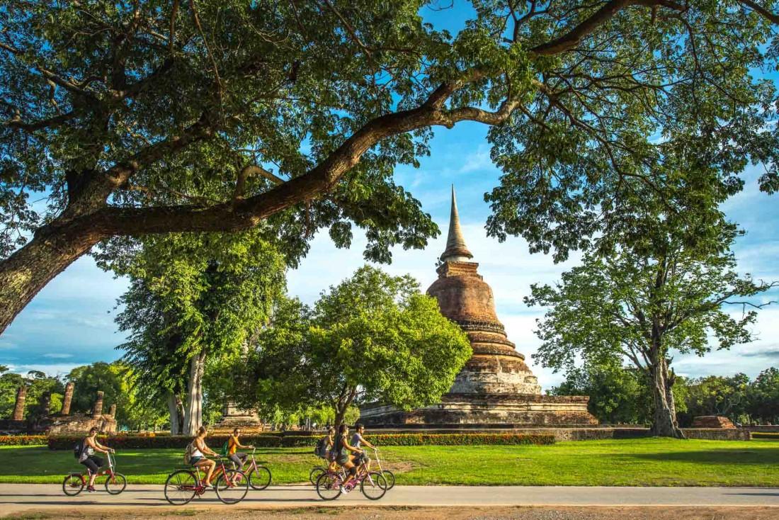 La ville historique de Sukhothaï, première capitale du Siam  mettant fin au règne khmer d'Angkor Wat © DR