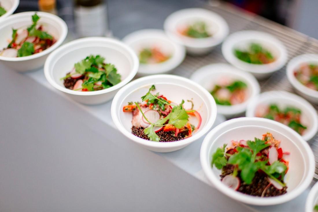 Tous les chefs participants à Taste of Paris livrent leurs créations dans ces assiettes créées spécialement pour l'occasion.