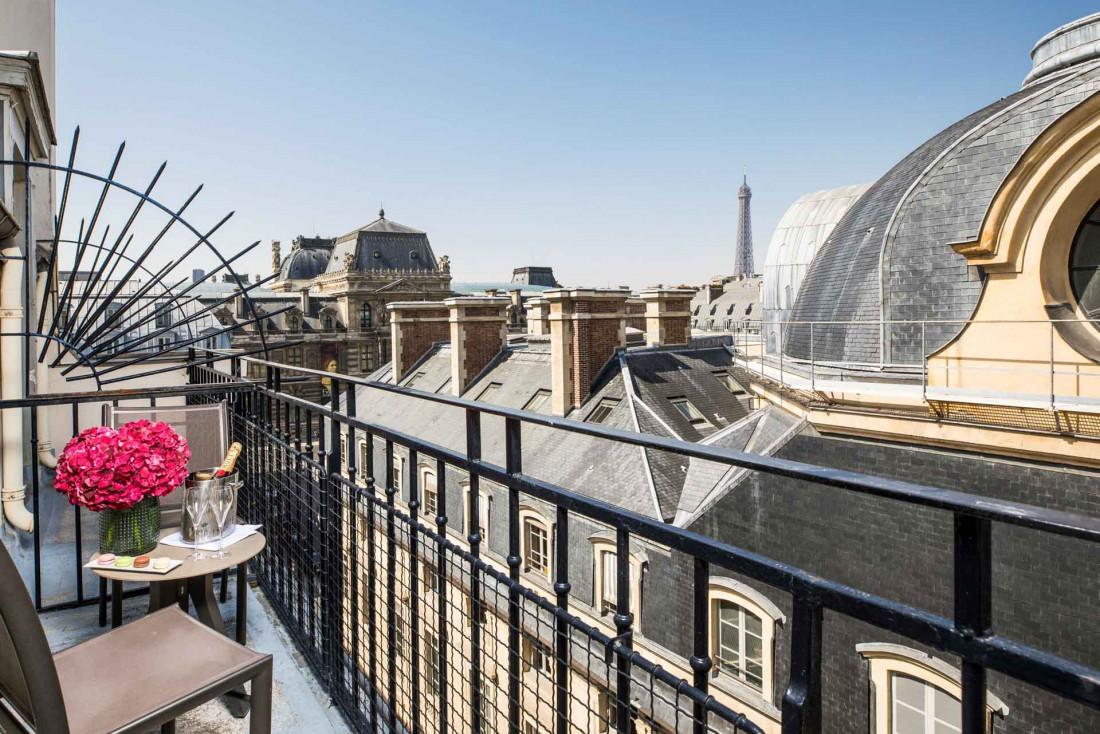 Chambre avec vue au Grand Hôtel du Palais Royal © DR