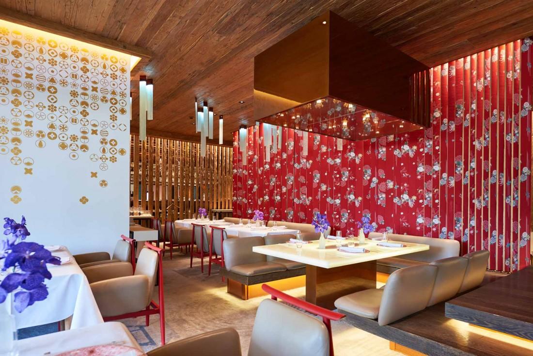 Le restaurant Megu propose une cuisine japonaise étoilée de haut vol à l'hôtel Alpina © Alpina Gstaad