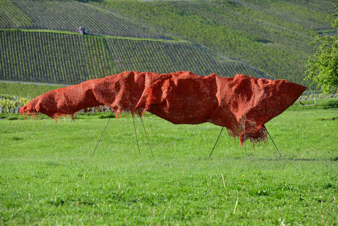 Vign'Art, des œuvres contemporaines qui parsèment les vignes © Michel Jolyot
