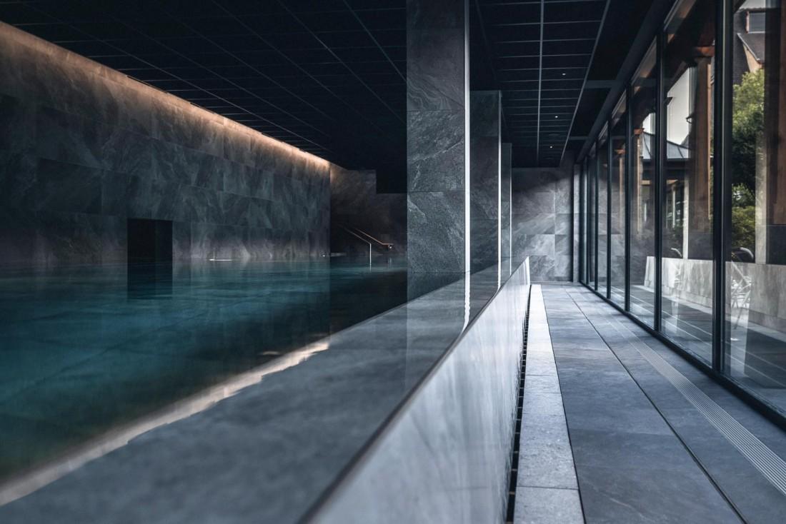Le nouveau Yonaguni Spa au Parc Hôtel Obernai s'ouvre sur un jardin extérieur © Nis&For