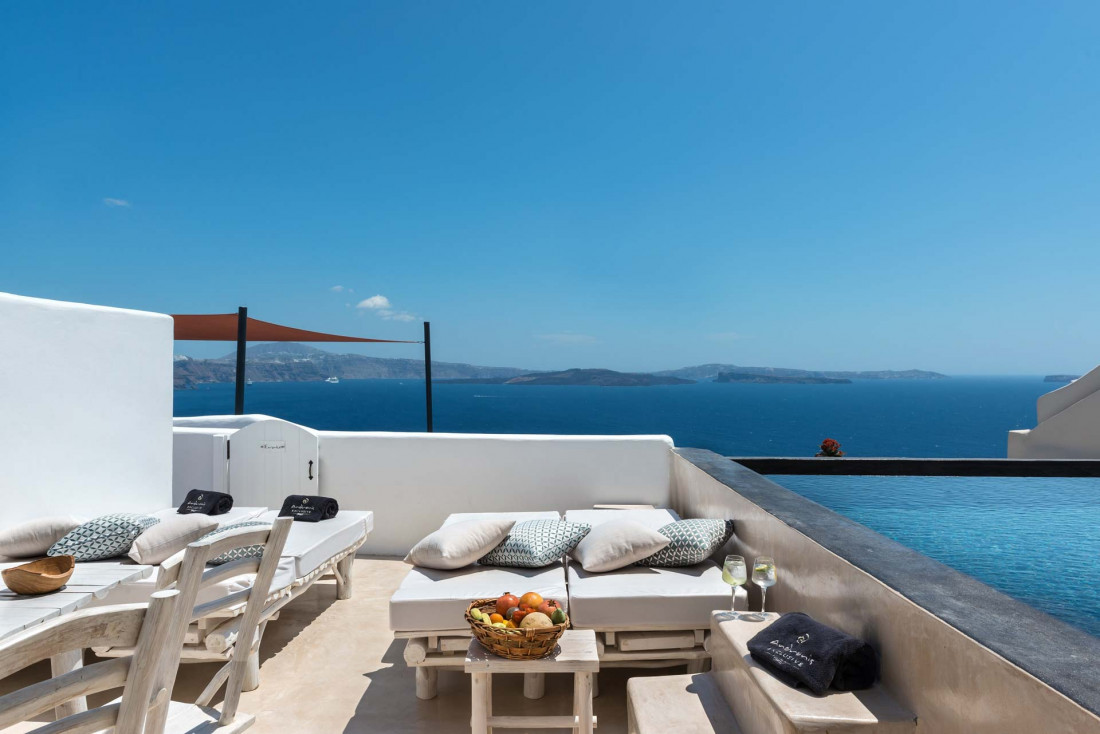 Andronis Boutique Hotel | Terrasse d'une Villa de deux chambres © Andronis