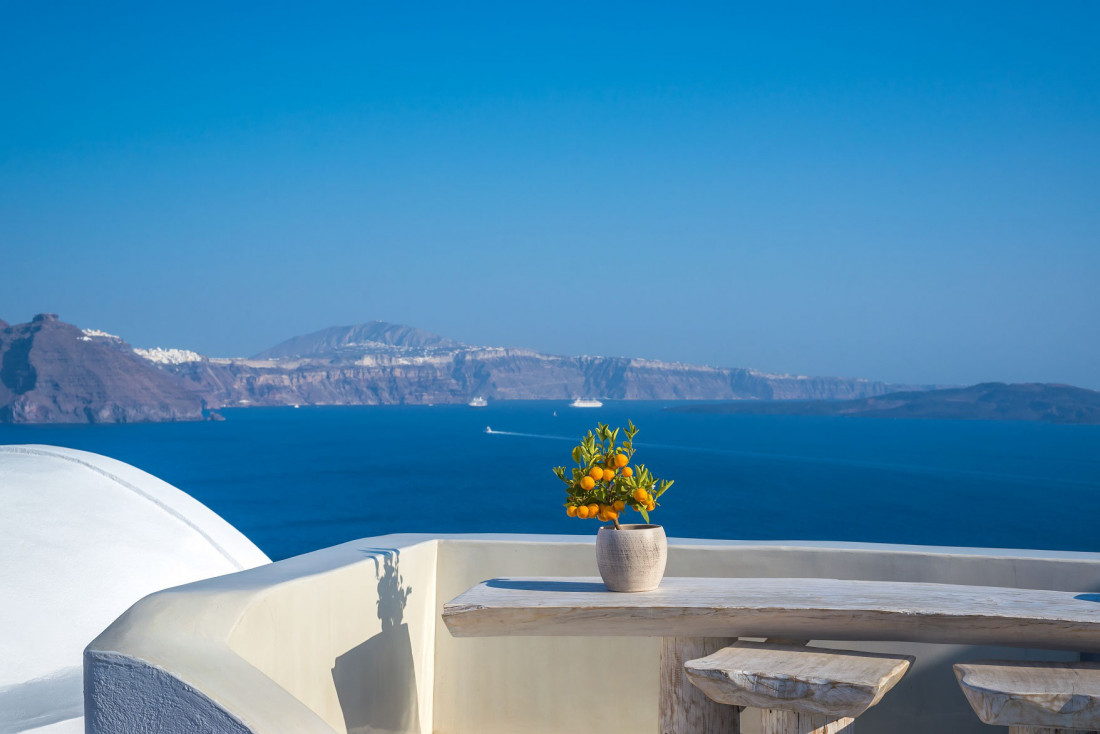 Andronis Boutique Hotel | Vue imprenable sur Santorin © Andronis