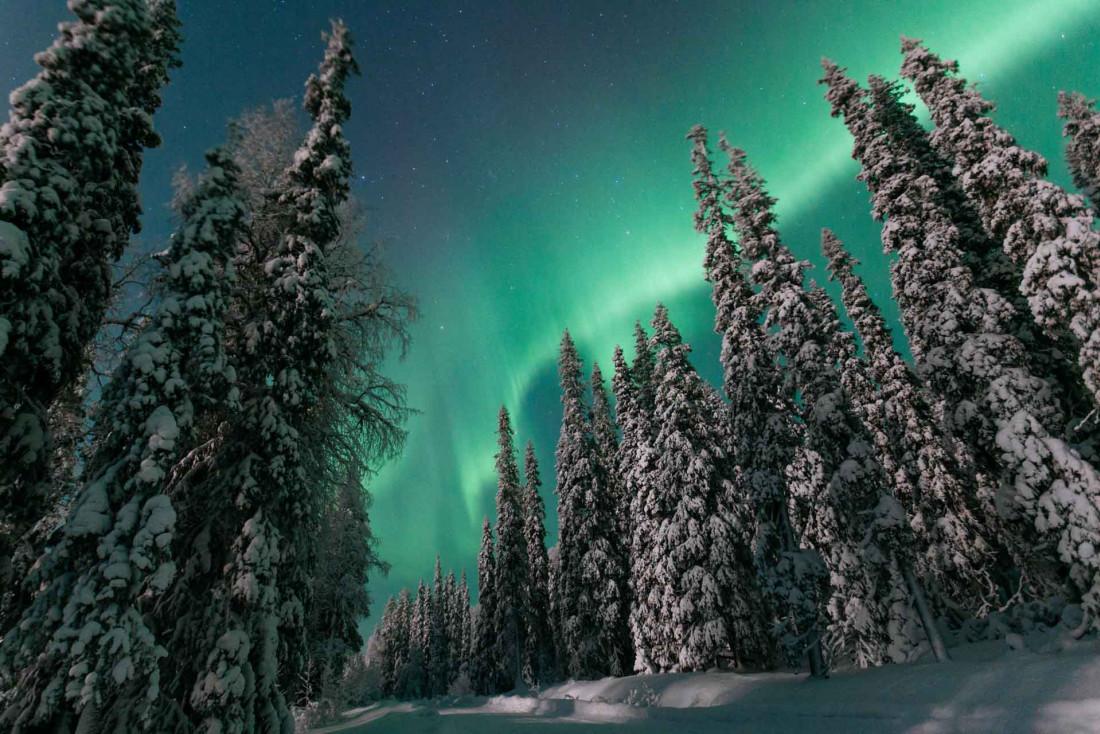 Les aurores boréales, spectacles de la nuit polaire © Hannes Becker — VisitFinland