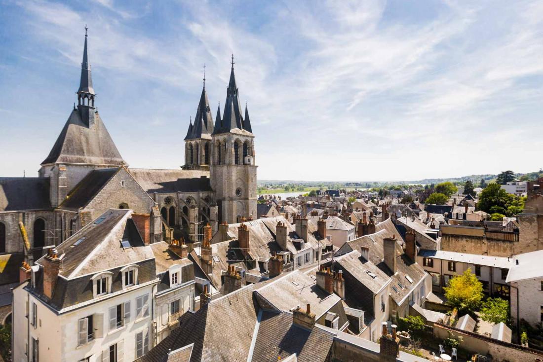 Le château royal d'Amboise domine la ville et le fleuve © Dorian Mongel