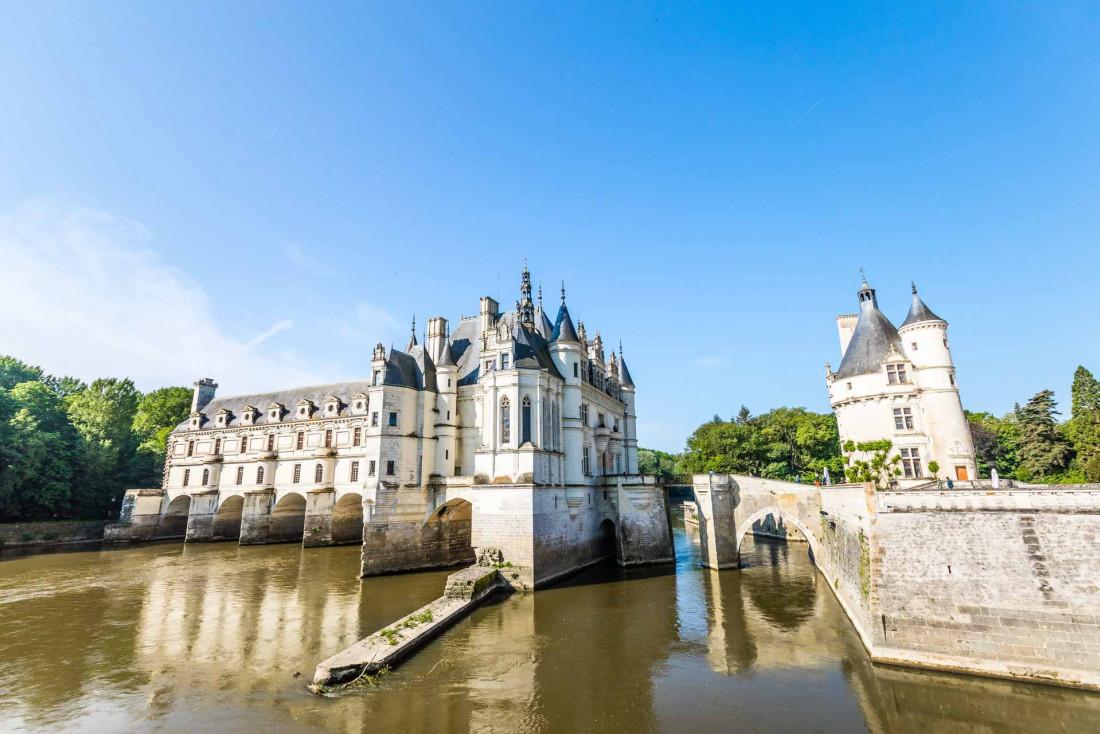 Les arches romantiques du château de Chenonceau © Dorian Mongel