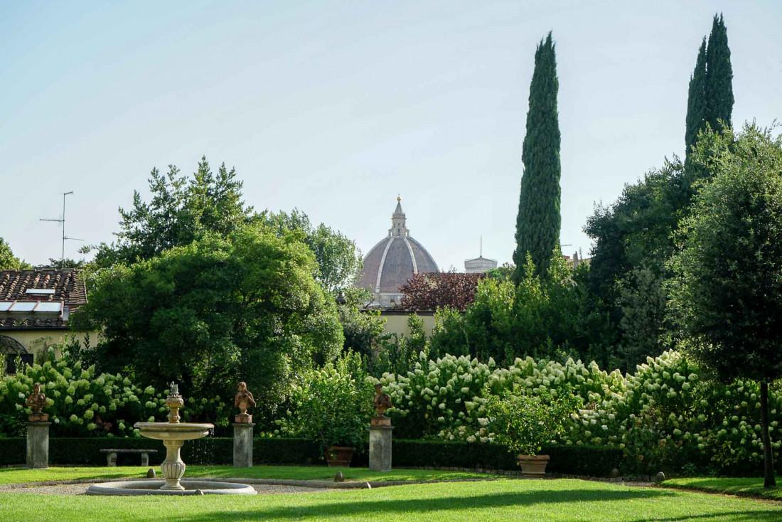 Four Seasons Hotel Firenze | Le plus grand jardin privé de Florence avec vue sur le Duomo © MB|YONDER.fr