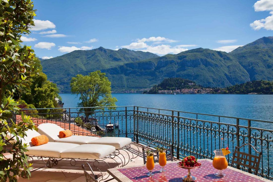 Moment d'évasion sur la terrasse de la Suite Greta © Grand Hotel Tremezzo