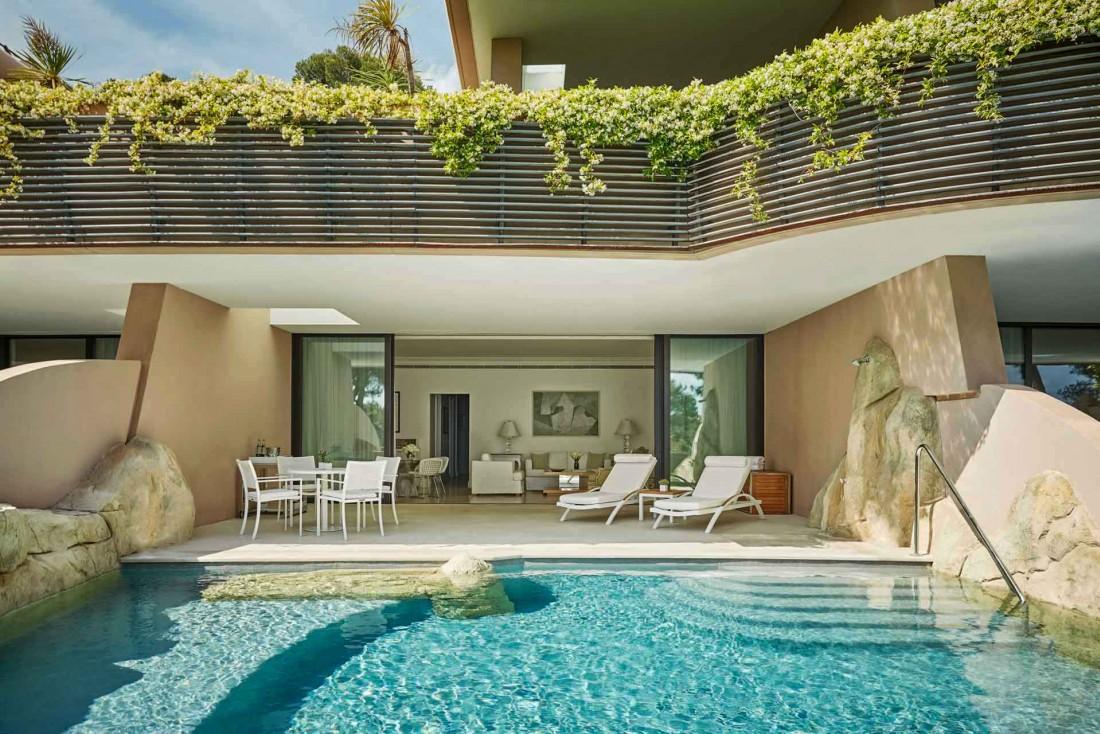 Les récentes Pool Suites du Grand-Hôtel du Cap-Ferrat, creusées dans la roche © Christian Horan