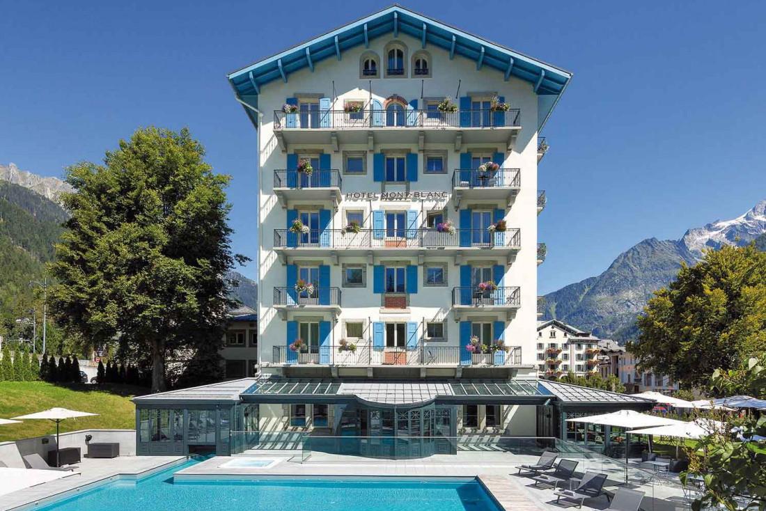 L'Hôtel Mont-Blanc Chamonix, établissement mythique de la Belle Époque entièrement rénové par la célèbre architecte d'intérieur Sybille de Margerie © DR