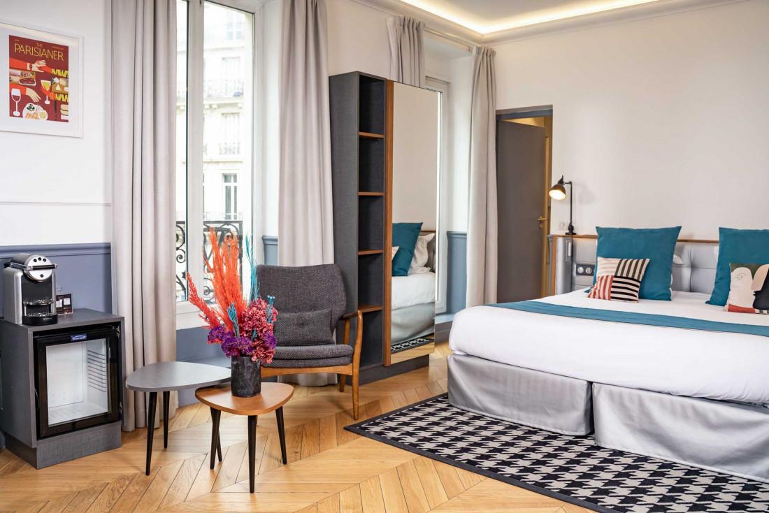 À l'Hôtel Petit Lafayette, des chambres aux allures d'appartement parisien © DR