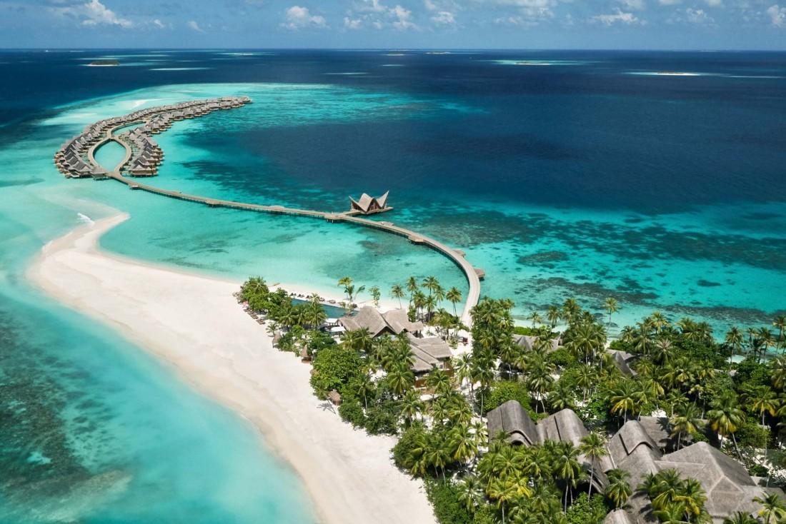 JOALI Maldives : l'île paradisiaque sur laquelle est située le resort. © DR