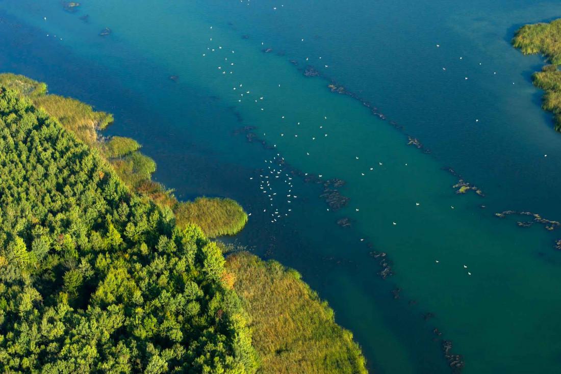 Le Lac de Madine vue d'avion, le plus grand lac de Lorraine © Guillaume Ramon
