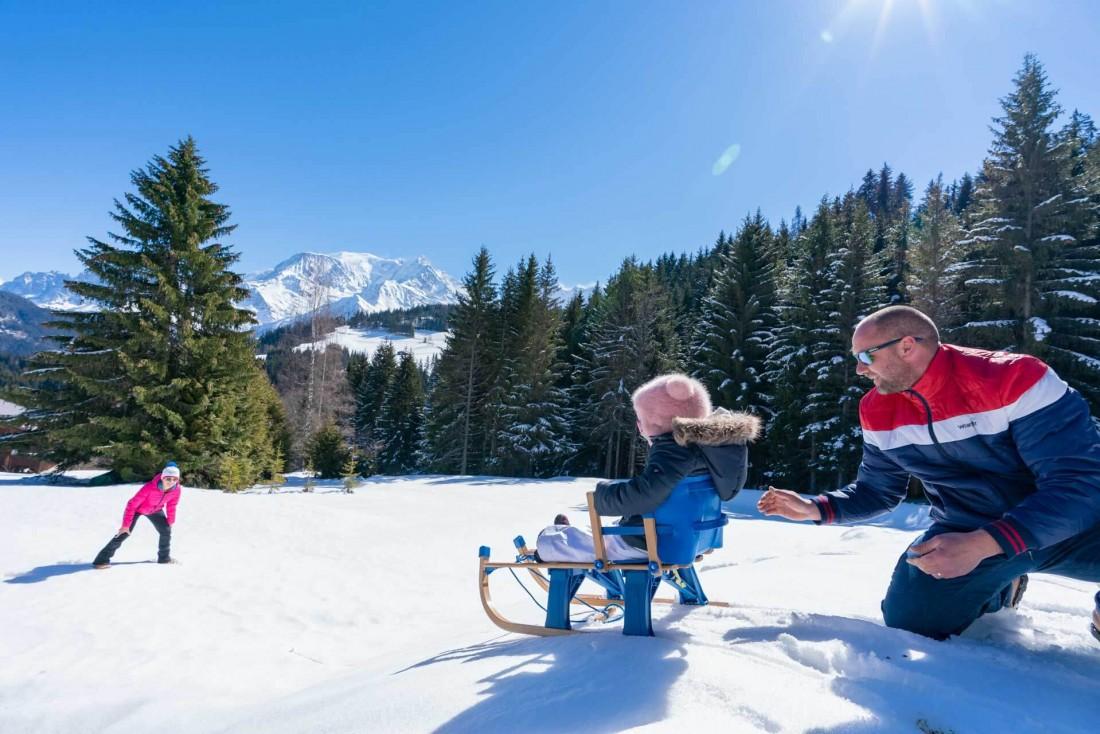 Saint-Gervais Mont-Blanc : il n'y a pas que le ski dans la vie... la preuve avec la luge ! © Boris Molinier