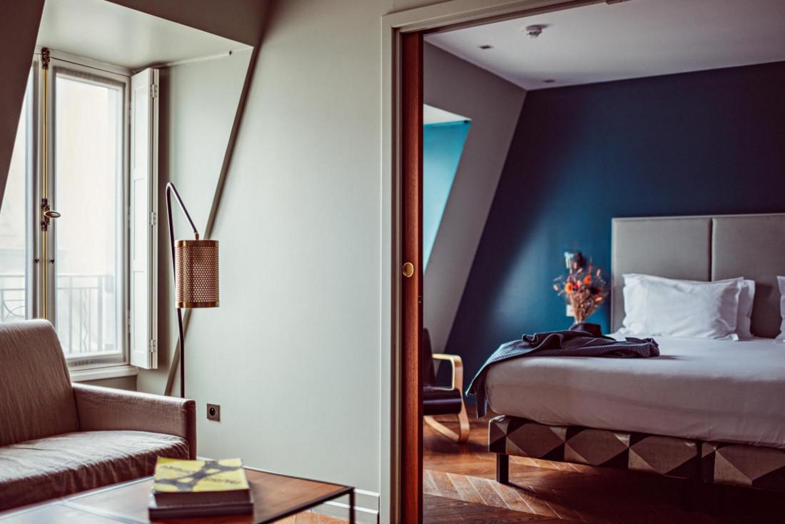 Une Junior Suite chez Monsieur Cadet, l'un des premiers boutique-hôtels de la capitale © DR