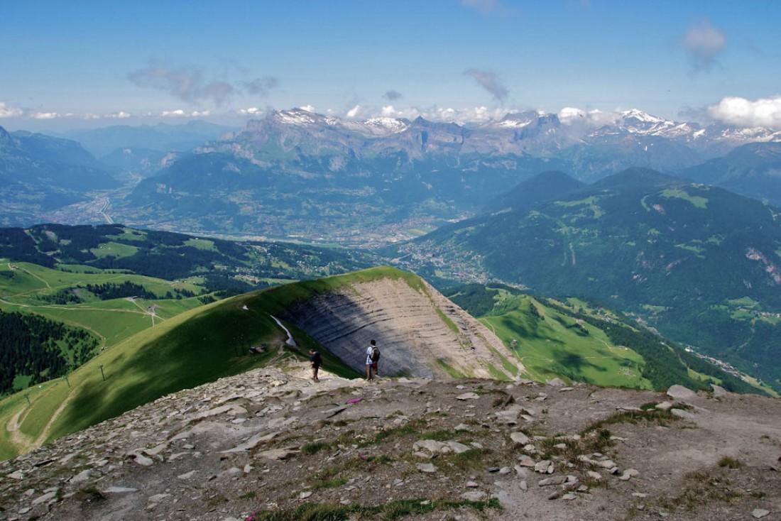 Vue depuis le Mont Joly. |  CC by-sa <a href='http://www.camptocamp.org/images/356352' target='_blank'> <u> Badad123 </u> </a>