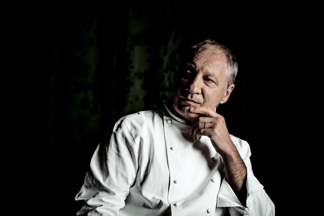 Portrait d'Eric Frechon, le chef du Bristol depuis 1999, triplement étoilé depuis 2009 © Benoit Linero