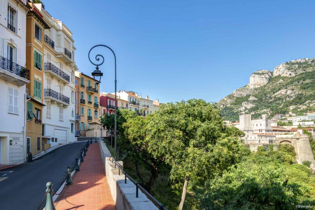 La rue des remparts offre une vue sur Monaco et le port Hercule © B. Vergely