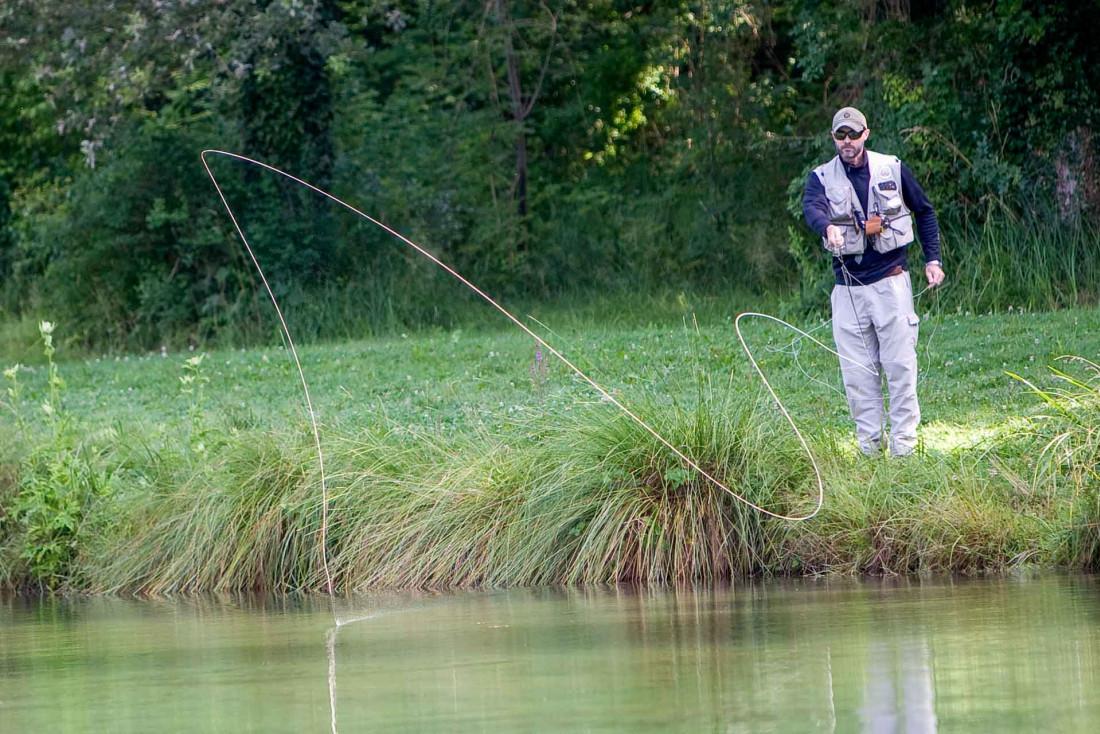 Apprendre à pêcher à la mouche au Domaine de Sommedieue © Guillaume Ramon