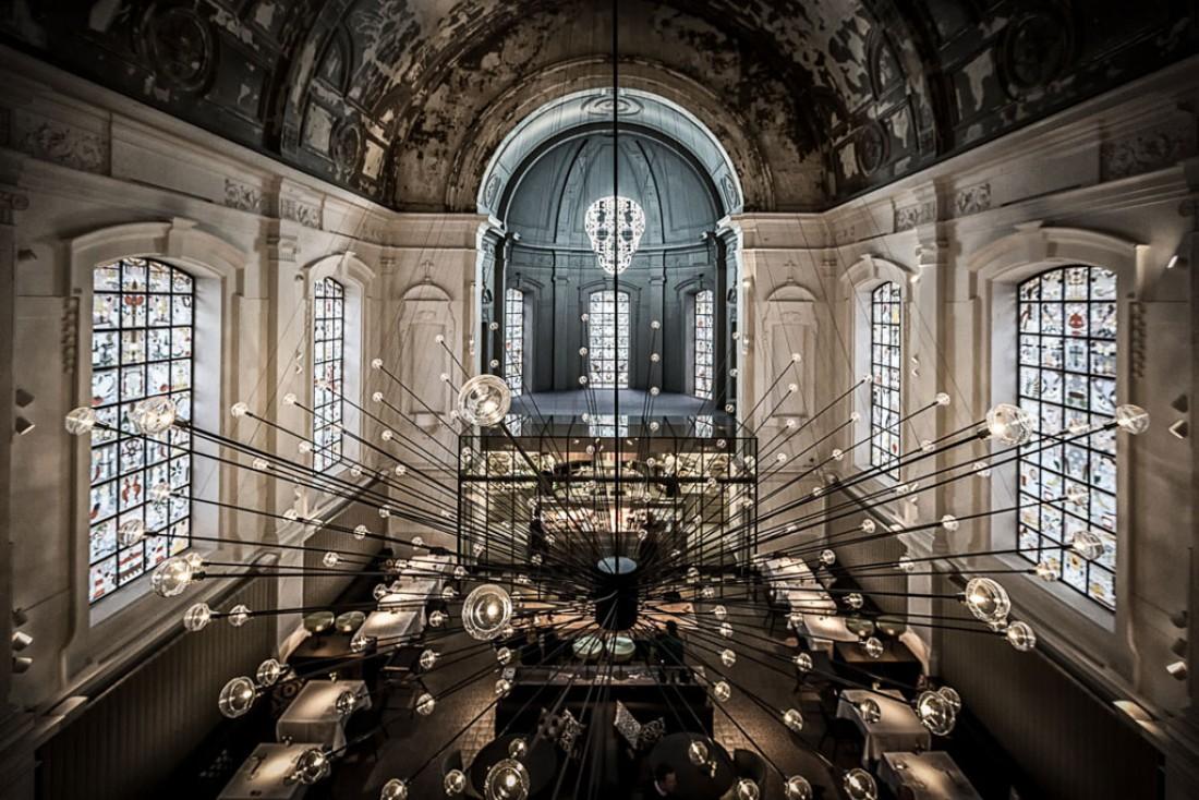 The Jane, table ultra branchée dans une chapelle reconvertie en temple gastronomique rock'n'roll, peut s'enorgueillir d'être les des restaurants les plus courus d'Europe © The Jane