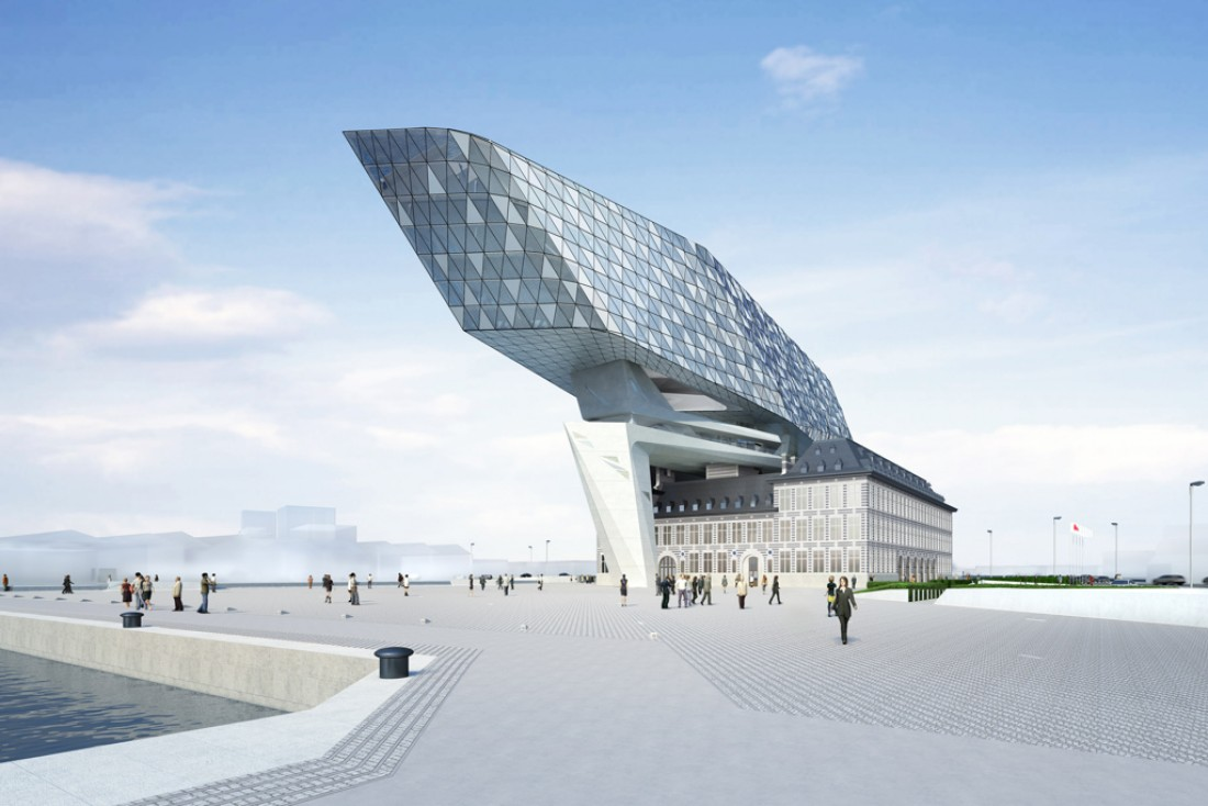 À Anvers, la société portuaire s'installera en 2016 dans un bâtiment futuriste signé Zaha Hadid, la Nouvelle Maison du Port © Zaha Hadid