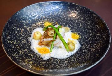 Barbue, jus de fenouil, vierge anchois © Yonder.fr