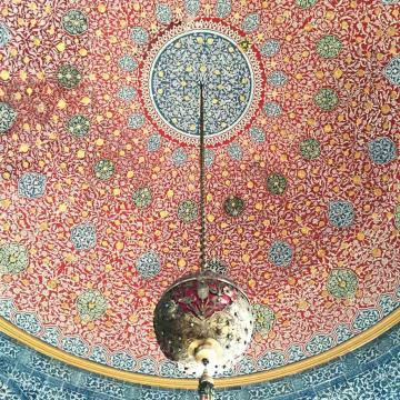 Plafond peint, toujours dans le Palais de Topkapı © Yonder.fr