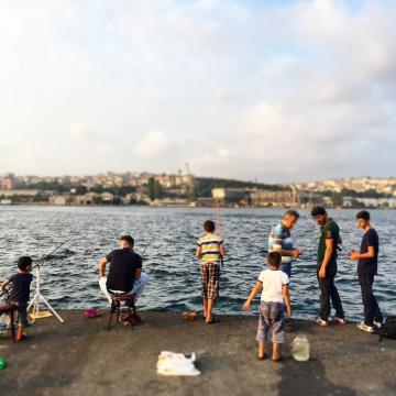 Pêcheurs sur la Corne d'Or à Fener © Yonder.fr