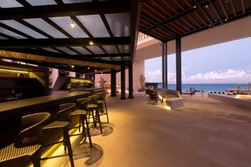 Les éclairages de l'hôtel ont fait l'objet d'un soin tout particulier. © Grand Hyatt Playa del Carmen