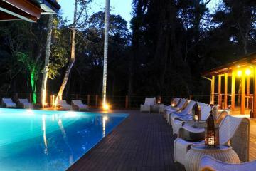 La piscine de l'hôtel  | © La Aldea De La Selva Lodge